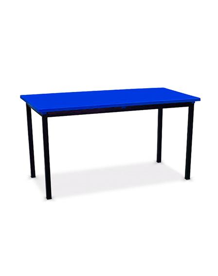 Mesa rectangular con cubierta de polipropileno